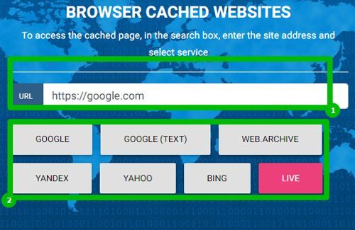 Service Browser Cached Pages